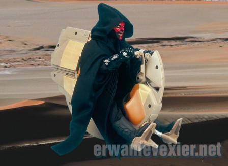 Darth Maul sur son Sith Speeder